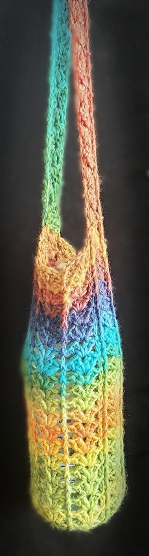 Solid Rainbow Crochet Water Bottle Holder